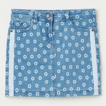 BOSSINI Floral Print Denim Skirt
