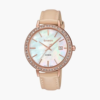 CASIO SHEEN Swarovski-Encrusted Analog Watch - SHE-4052PGL-7BUDF (SX246)