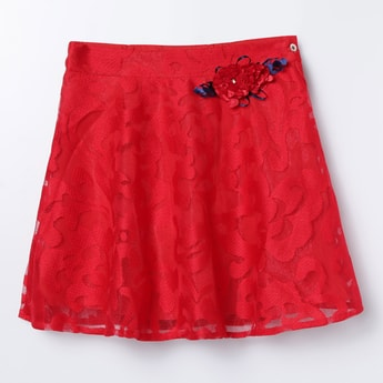 PEPPERMINT Lace A-line Skirt