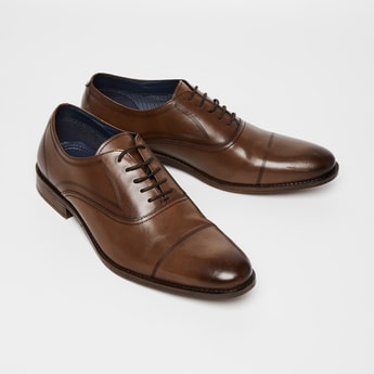 CODE Genuine Leather Toe-Cap Oxford Shoes