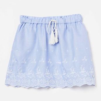 ALLEN SOLLY Embroidered Tassel Detail Skirt