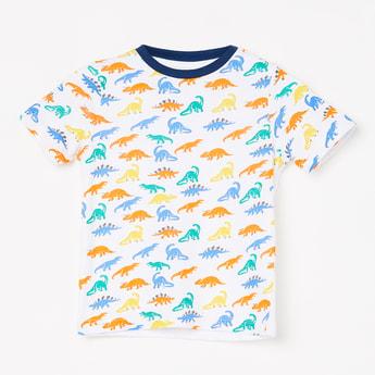 JUNIORS Dinosaur Print Short Sleeves T-shirt