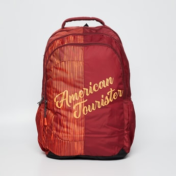 AMERICAN TOURISTER Printed Zip-Up Multi-Pocket Backpack
