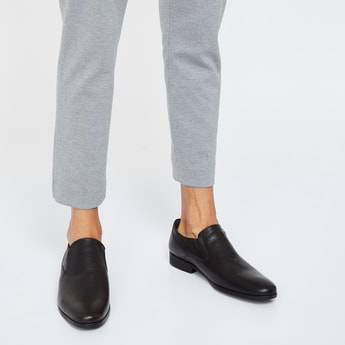 RED TAPE Textured Leather Slip-On Shoes