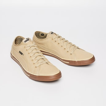 PUMA Textured Lace-Up Sneakers