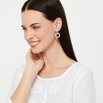 TONIQ Stone Embellished Drop-Earrings