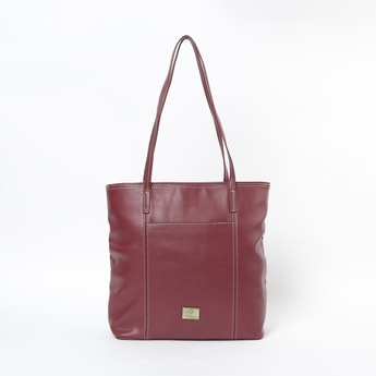 CAPRESE Solid Tote Bag with Flat Handles