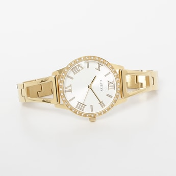 GUESS Women Water-Resistant Embellished Analog Watch - W1208L2