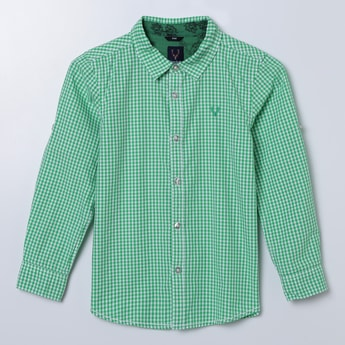ALLEN SOLLY Checked Full Sleeves Shirt