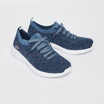 SKECHERS Mesh Panelled Casual Lace-Up Shoes