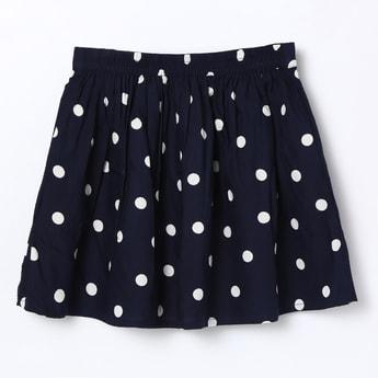 ALLEN SOLLY Polka Dot Print A-line Skirt