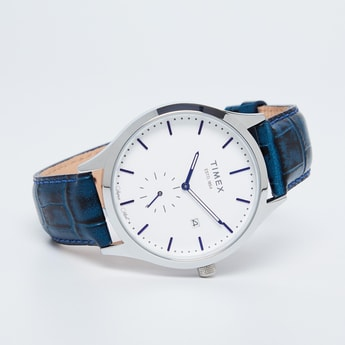 TIMEX E Class Men Leather Strap Analog Watch - TW000T316