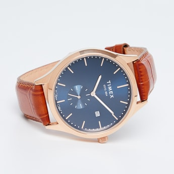 TIMEX E Class Men Leather Strap Analog Watch - TW000T318