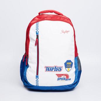 SKY BAGS Printed Backpack with Zip Closure