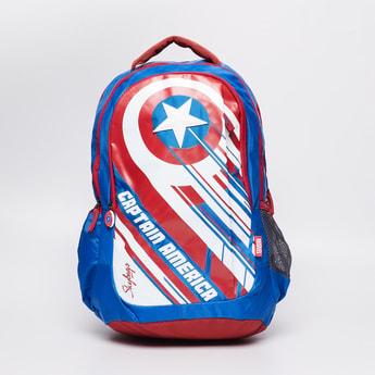 SKY BAGS Captain America Print Backpack