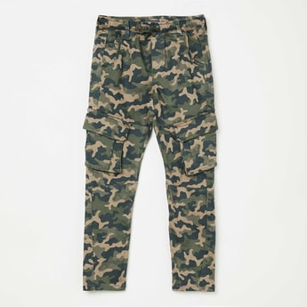 ALLEN SOLLY Camouflage Print Cargo Pants
