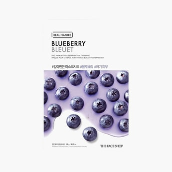 THE FACE SHOP Real Nature Blueberry Face Mask