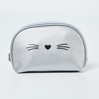 GINGER Kitty Print Cosmetic Pouch