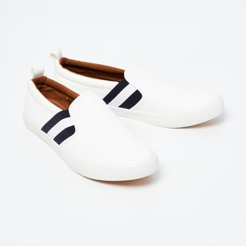 FORCA Striped Slip-On Shoes