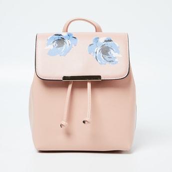 CODE Floral Print Flap Closure Backpack