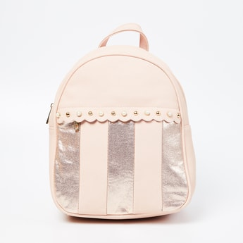 GINGER Textured Backpack with Embellishments