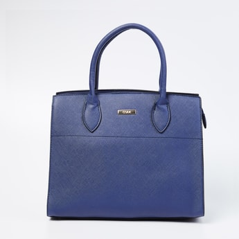 CODE Panelled Handbag with Rolled Handles