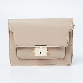 CODE Textured Sling Bag wtih Flap