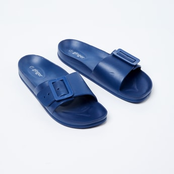 GINGER Solid Sliders with Buckle Closure