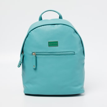 CAPRESE Solid  Backpack with Contrast Handles