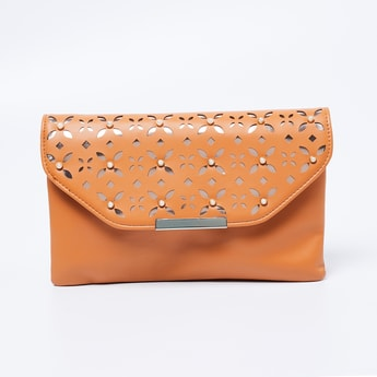 GINGER Cutwork Flap-Closure Sling Bag