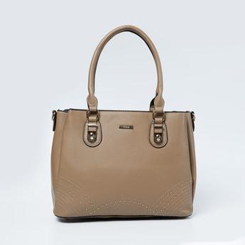 CODE Textured Zip-Closure Handheld Bag