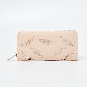 GINGER Laser Cut Zip-Around Wallet