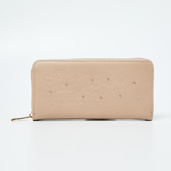 GINGER Studded Zip-Around Wallet