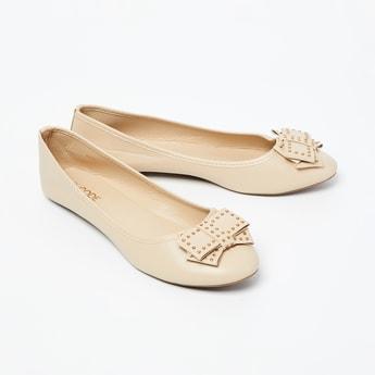 CODE Embellished Bow Detail Ballerina Flats