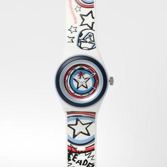 ZOOP Captain America Print Analog Watch- C4048PP28