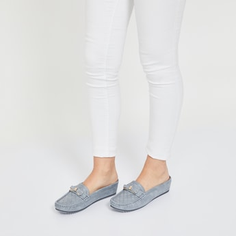 CODE Checked Bit Loafers