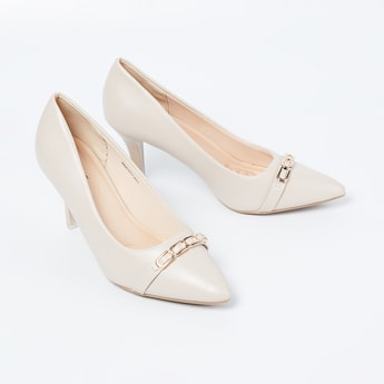 CODE Pointed-Toe Pumps with Cone Heels