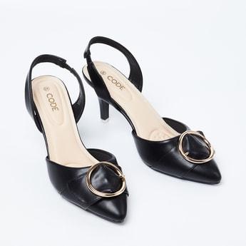 CODE Buckled Sling-Back Heels