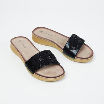 MELANGE Embellished Slip-On Sandals