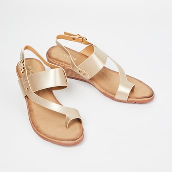 CODE Solid Toe-Strap Wedges