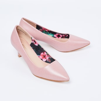 GINGER Solid Pointed Toe Heels