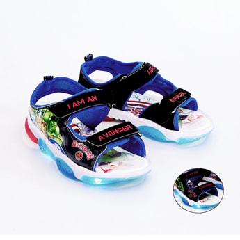 FAME FOREVER Avengers Print Light Up Floater Sandals