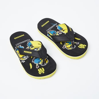 BIOWORLD Minion Print V-strap Slippers