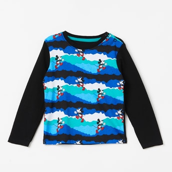 JUNIORS Mickey Print Full Sleeves T-shirt