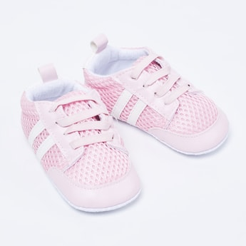 FAME FOREVER Mesh Lace-Up Casual Shoes