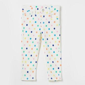 JUNIORS Polka Dot Print Jeans
