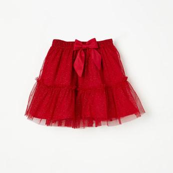 JUNIORS Bow Detailed Tulle Skirt