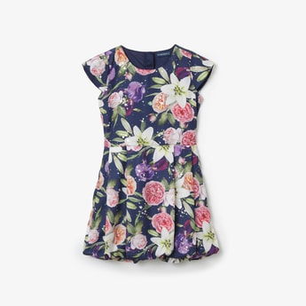 FAME FOREVER KIDS Floral Print Pleated Dress