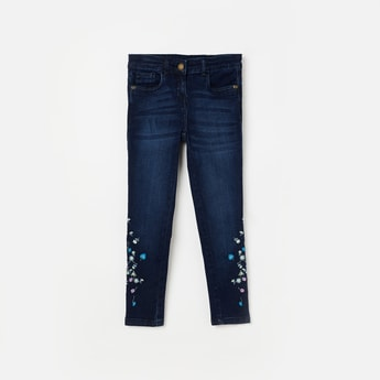BOSSINI Embroidered Stonewashed Jeans