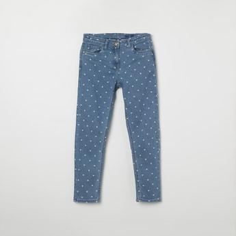 FAME FOREVER KIDS Printed Skinny Jeans